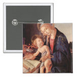 Madonna enseña al niño Jesús Pin Cuadrada 5 Cm