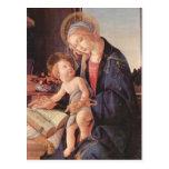 Madonna enseña al niño Jesús Postal