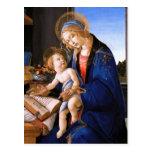 Madonna enseña al niño Jesús Sandro Botticelli Tarjeta Postal