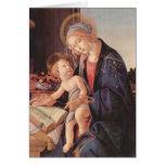 Madonna enseña al niño Jesús Tarjeton