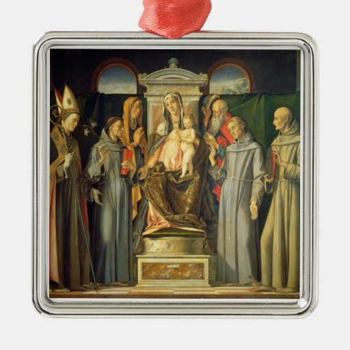Madonna Enthroned, 1480 (el aceite en el panel) Adorno De Reyes