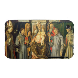 Madonna Enthroned, 1480 (oil on panel) iPhone 3 Case-Mate Cases