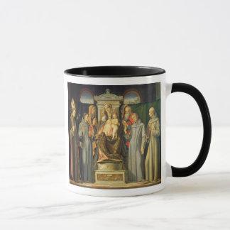 Madonna Enthroned, 1480 (oil on panel) Mug