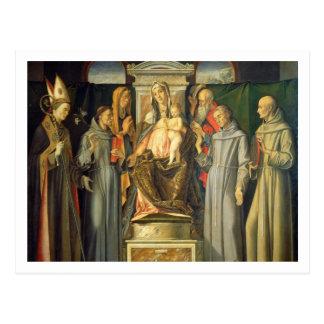 Madonna Enthroned, 1480 (oil on panel) Postcard