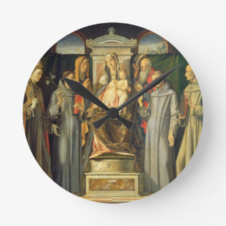 Madonna Enthroned, 1480 (oil on panel) Round Clock