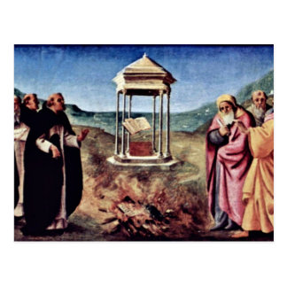 Madonna Enthroned a San Pedro St. John el Bautista Tarjeta Postal