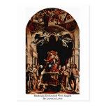 Madonna Enthroned con ángeles de Lorenzo Lotto Tarjeta Postal