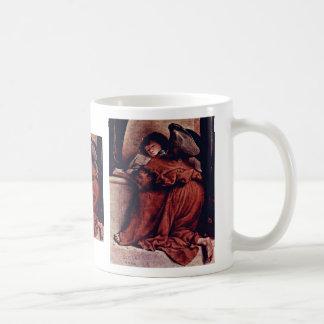 Madonna Enthroned con ángeles y santos dejados: St Taza De Café