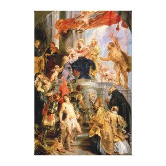Madonna Enthroned con el niño Lona Envuelta Para Galerias