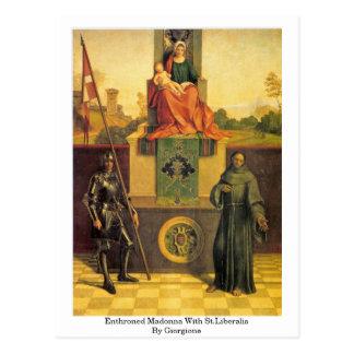Madonna Enthroned con St.Liberalis por Giorgione Postales
