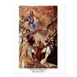 Madonna Enthroned de Guido Reni Postales