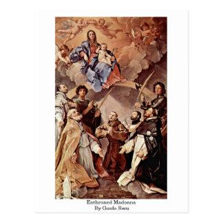 Madonna Enthroned de Guido Reni Tarjetas Postales