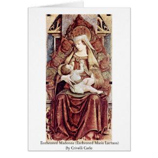 Madonna Enthroned (Maria Enthroned Lactans) Tarjeta De Felicitación
