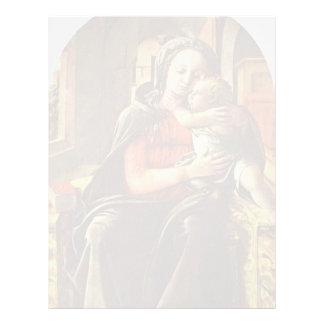 Madonna Enthroned por Filippo Lippi Plantillas De Membrete