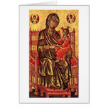Madonna Enthroned por los pintores Italo-Bizantino Tarjeta