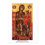 Madonna Enthroned por los pintores Italo-Bizantino Postales
