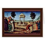 Madonna Enthroned St. Peter St. John The Baptist, Greeting Card