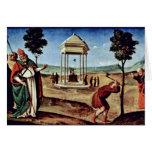 Madonna Enthroned St. Peter St. John The Baptist, Card
