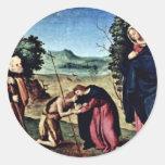 Madonna Enthroned St. Peter St. John The Baptist, Sticker