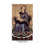 Madonna Enthroned With Angels Postcard