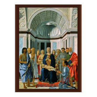 Madonna Enthroned With Saints And Donors' Federigo Postcard