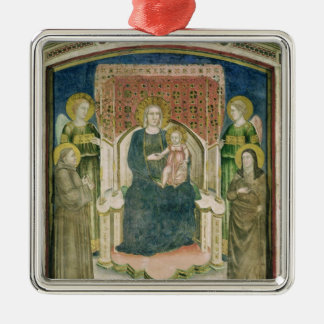 Madonna Enthroned with St. Francis of Assisi Metal Ornament