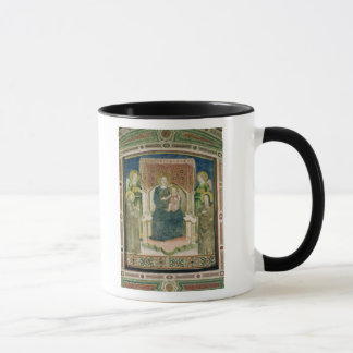 Madonna Enthroned with St. Francis of Assisi Mug