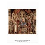 Madonna Enthroned y los santos de Sandro Botticell Tarjeta Postal