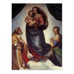 Madonna Fine Art by Raphael Postcard