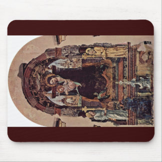 Madonna Fragment By Cossa Francesco Del Mouse Pads