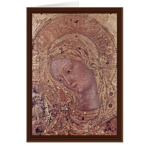 Madonna Fragment By Gentile Da Fabriano Greeting Card