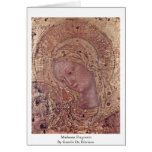 Madonna Fragment By Gentile Da Fabriano Greeting Card
