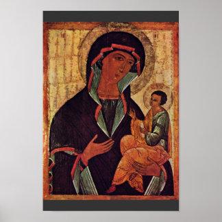 Madonna georgiano de Meister Der Schule Von Nowgor Impresiones