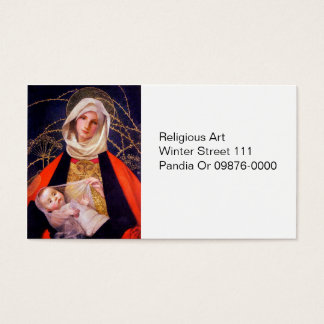 Madonna Holding Child Business Card