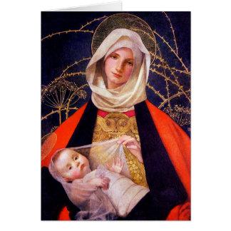 Madonna Holding Child Card