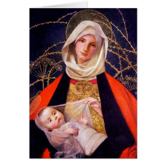 Madonna Holding Child Greeting Card