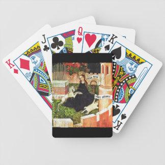 Madonna Holding White Unicorn Bicycle Playing Cards