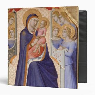 Madonna in Glory, c.1315 (tempera on panel) 3 Ring Binder