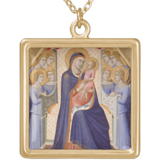 Madonna in Glory, c.1315 (tempera on panel) Gold Plated Necklace