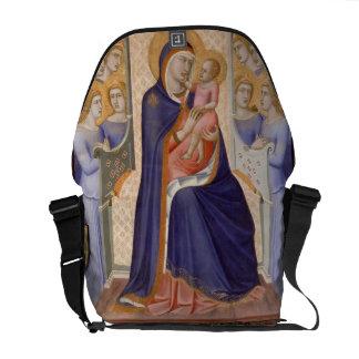 Madonna in Glory, c.1315 (tempera on panel) Messenger Bag