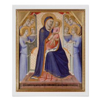 Madonna in Glory, c.1315 (tempera on panel) Poster