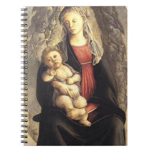 'Madonna in Glory with Seraphim' Spiral Notebooks