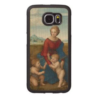Madonna in Meadow Raphael Renaissance Art Wood Phone Case