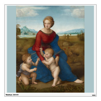 Madonna in Meadow Raphael Wall Sticker