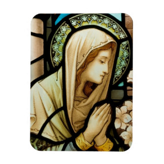 Madonna in Prayer Stained Glass Magnet