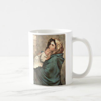 Madonna in Scarf Holds Baby Jesus Coffee Mug