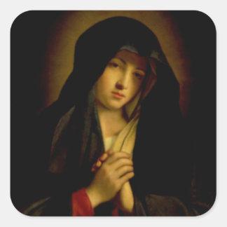 Madonna in Sorrow Square Sticker