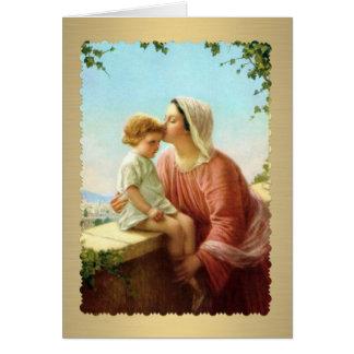 Madonna & Jesus Blank inside Card