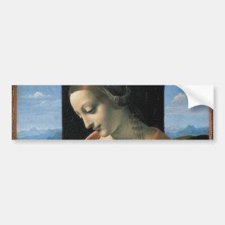 Madonna Litta by Leonardo da Vinci Bumper Sticker