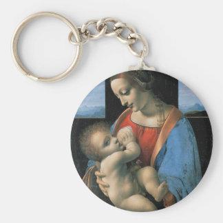 Madonna Litta by Leonardo Da Vinci c. 1490-1491 Keychain